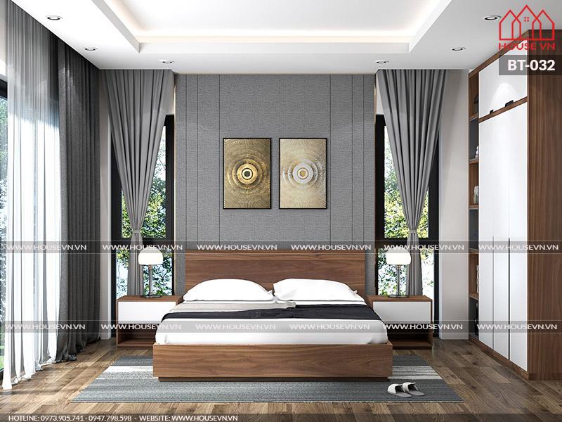Mẫu thiết kế nội thất phòng ngủ với cách phối màu cá tính, độc đáo