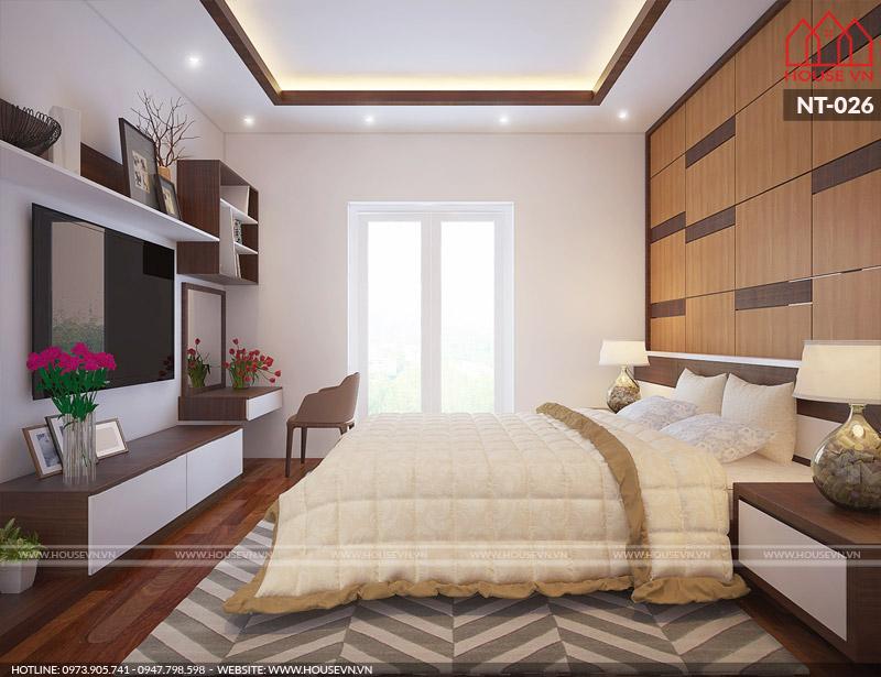 10 mẫu nội thất phòng ngủ biệt thự đẹp và tiện nghi