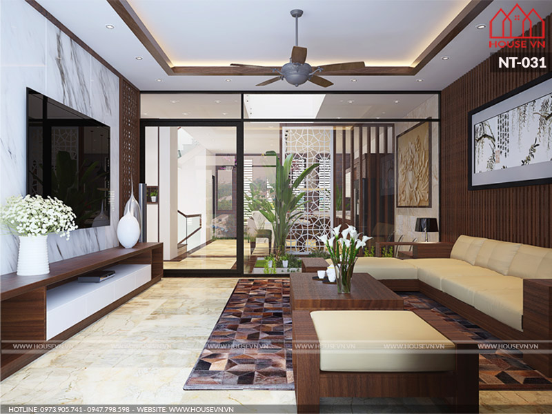 Phong cách thiết kế nội thất nhà phố hiện đại 4 tầng tinh tế