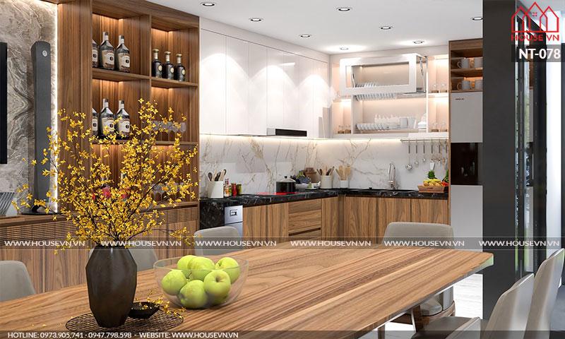 Ý tưởng thiết kế nội thất phòng ăn cho biệt thự đẹp sang trọng