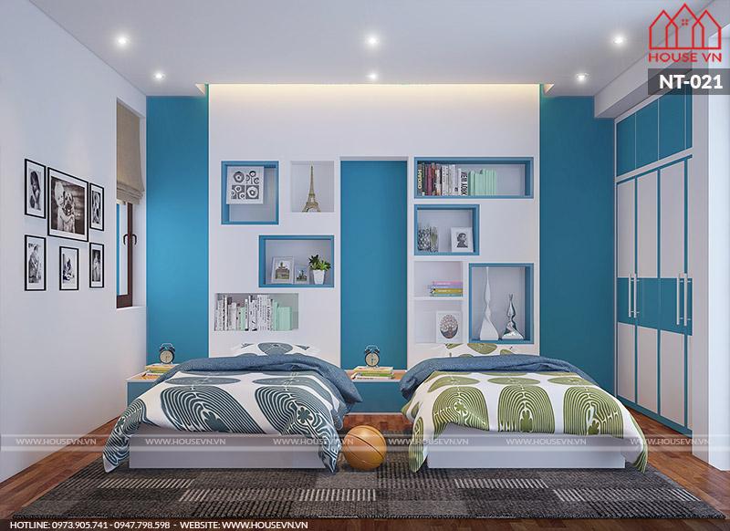 Ý tưởng thiết kế nội thất phòng ngủ bé trai đẹp khỏe khoắn, năng động