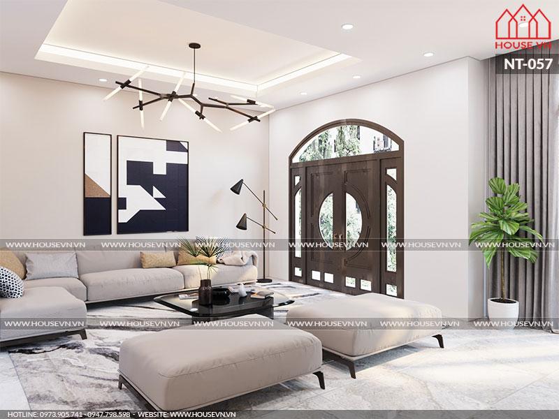 Phương án bố trí nội thất phòng khách đẹp hài hòa, hợp lý