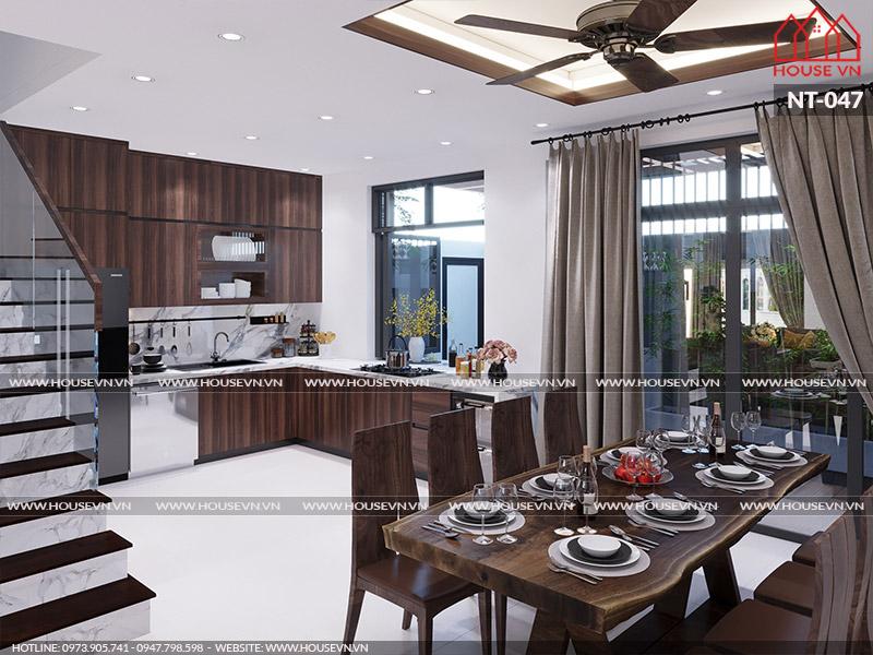 Phương án bày trí nội thất khu vực bếp ăn khoa học, hợp phong thủy