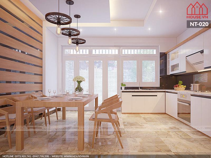 Cách bày trí nội thất phòng bếp linh hoạt cho nhà ống dân dụng