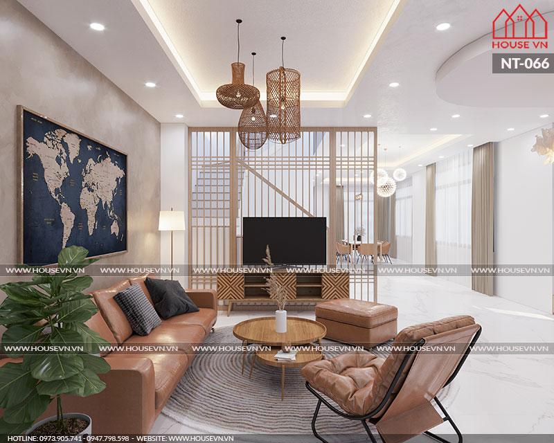 Mẫu thiết kế nội thất phong cách hiện đại đẹp cho biệt thự Monaco Vinhomes Imperia, NT-066