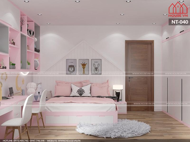 Hướng dẫn thiết kế phòng ngủ bé gái xinh xắn, ngọt ngào