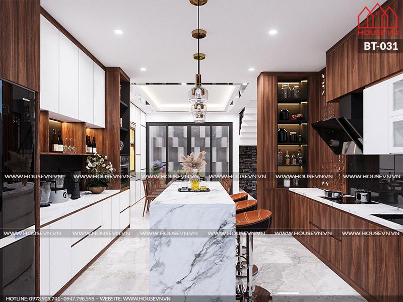 Gợi ý bày trí nội thất không gian bếp ăn ngăn nắp, đầy đủ tiện nghi