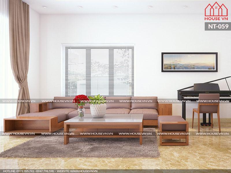 Mẫu thiết kế nội thất nhà đẹp theo phong cách hiện đại, NT-059