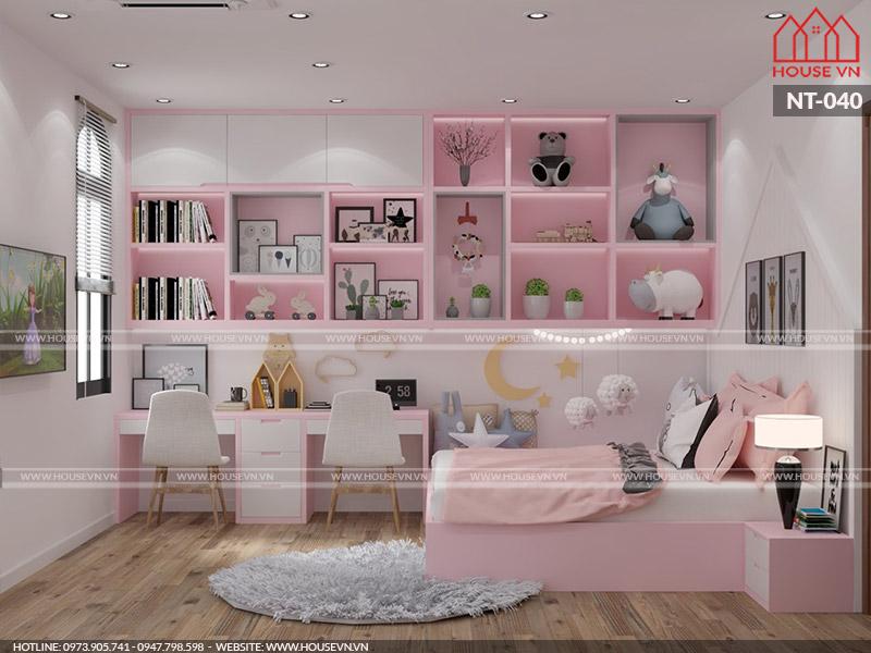 Những mẫu thiết kế nội thất phòng ngủ xinh xắn dành cho bé gái