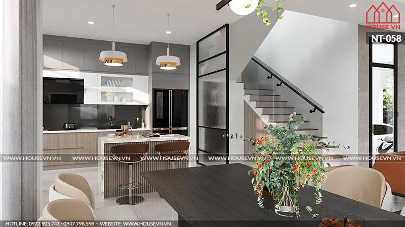 Hướng dẫn thiết kế nội thất không gian bếp ăn tiện nghi, sang trọng