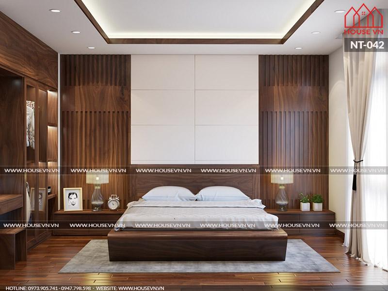 Những mẫu thiết kế nội thất phòng ngủ gam màu trầm ấm cúng