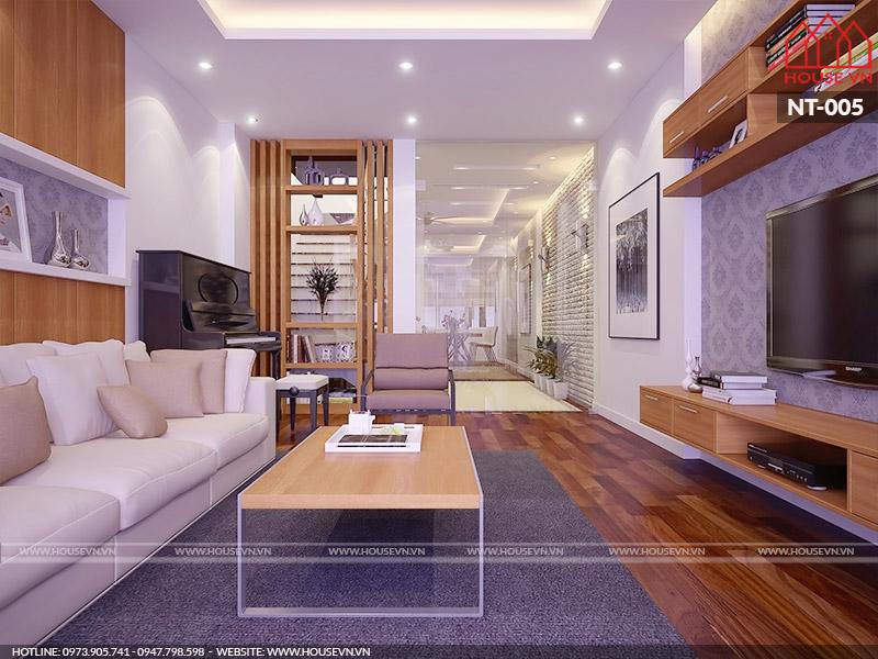 Hình ảnh nội thất phòng khách diện tích 16m2 bày trí tiện nghi và lịch thiệp nhất