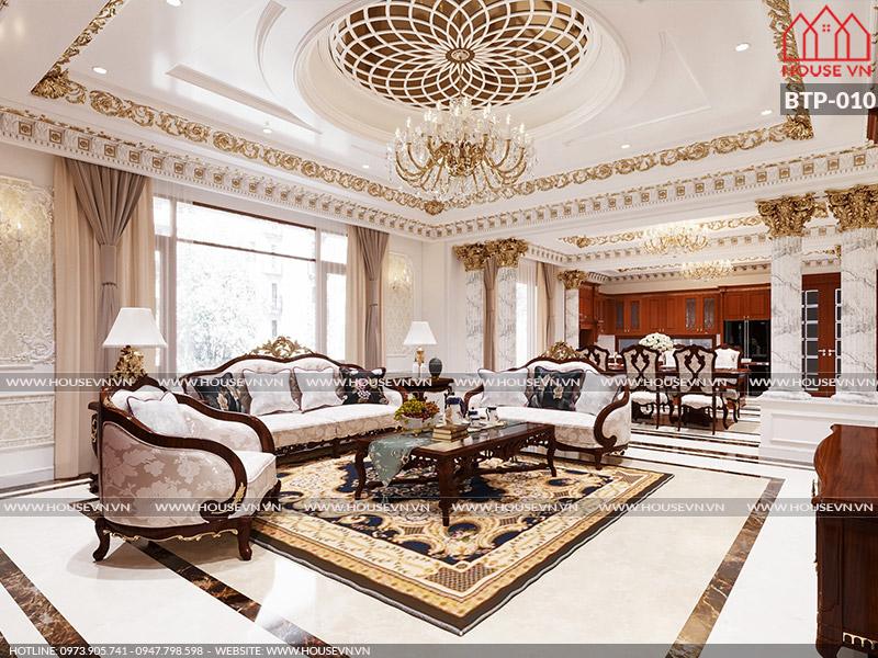 Gợi ý cách bày trí phòng khách dành cho biệt thự đẹp đẳng cấp