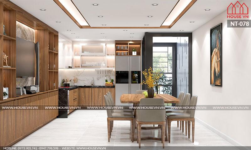 Xu hướng thiết kế nội thất bếp ăn đẹp sang trọng, đủ tiện nghi