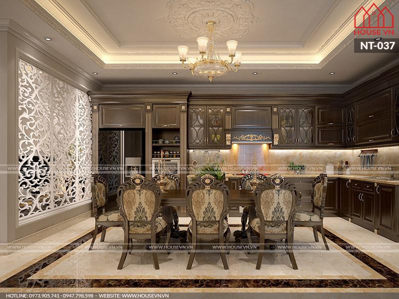 Mẫu thiết kế nội thất phòng ăn cho biệt thự đẹp đẳng cấp