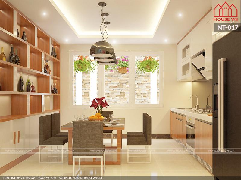 Giải pháp thiết kế nội thất không gian bếp ăn gọn gàng, tiện nghi