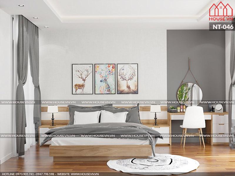 Ý tưởng bày trí nội thất phòng ngủ dành cho 2 người đẹp thanh lịch, tinh tế