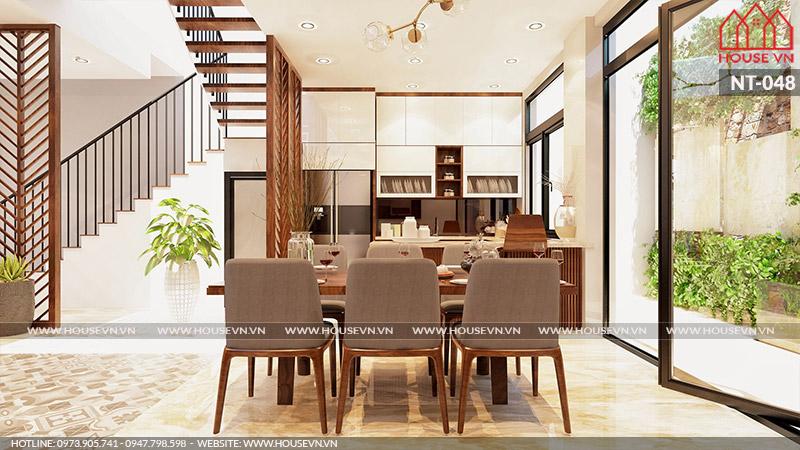Mẫu thiết kế nội thất không gian ẩm thực đẹp đủ tiện nghi