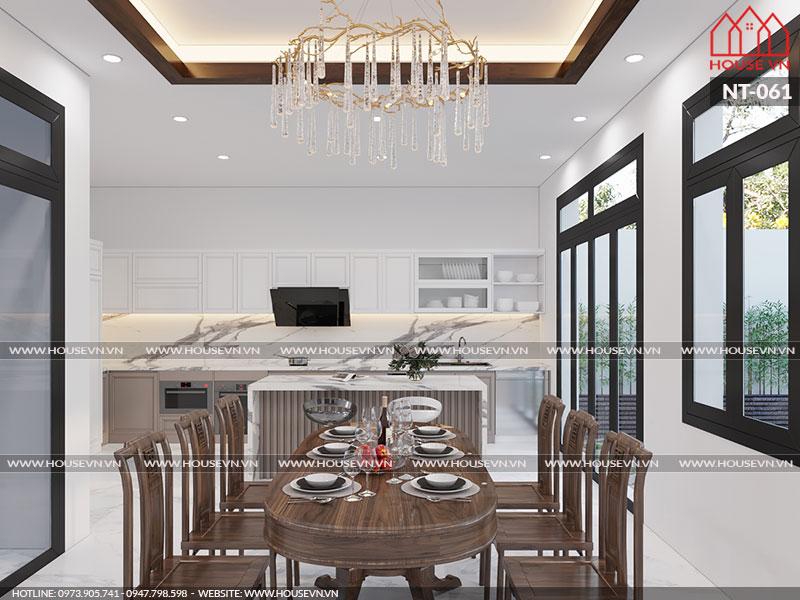 Gợi ý thiết kế nhà ăn gia đình đẹp sang trọng, ấn tượng