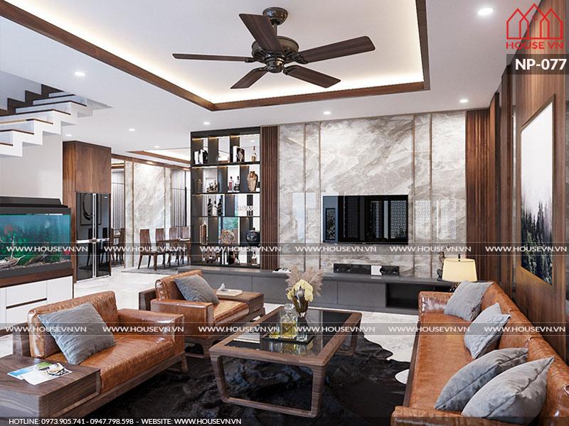 Những mẫu nội thất phòng khách biệt thự thiết kế hiện đại sang trọng