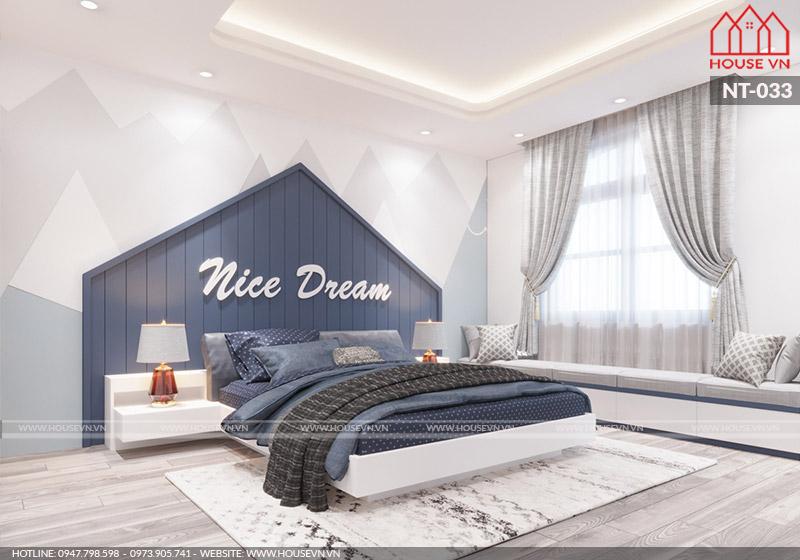 Tham khảo mẫu thiết kế nội thất phòng ngủ đẹp dành cho bé trai tại Hải Phòng