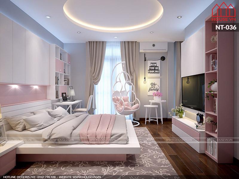 Thiết kế nội thất phòng ngủ dành cho bé gái xinh xắn, đáng yêu tại Hải Phòng
