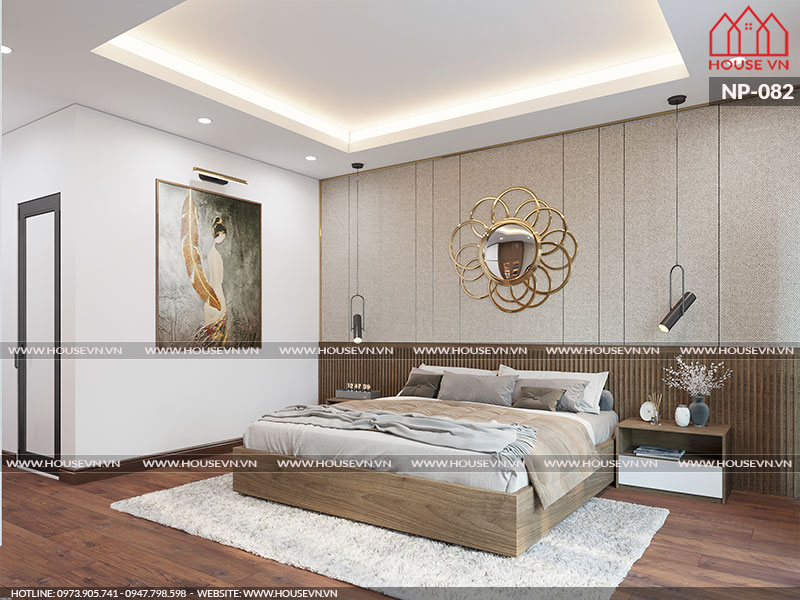 Tham khảo mẫu thiết kế nội thất phòng ngủ sang trọng, ấn tượng