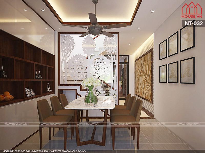 Giải pháp thiết kế nội thất phòng ăn cho nhà ống không gian hẹp