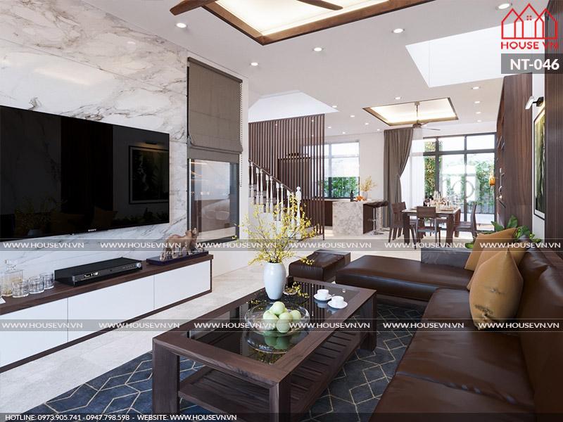 Thiết kế thi công trọn gói nội thất biệt thự Vinhomes Imperia 5 phòng ngủ đẹp nhất