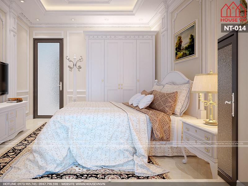 Thiết kế nội thất phòng ngủ theo phong cách Pháp đẹp ấn tượng