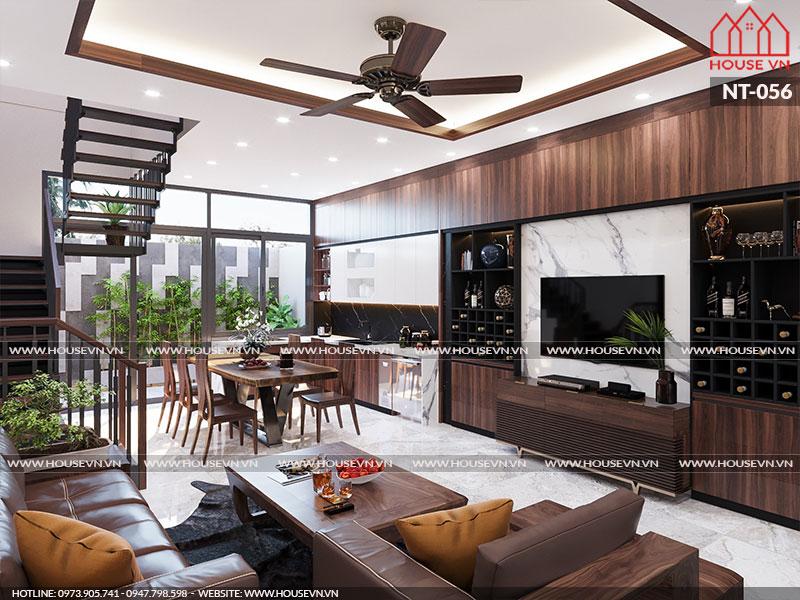 Phương án thiết kế nội thất nhà đẹp sang trọng, ấn tượng, NT-056