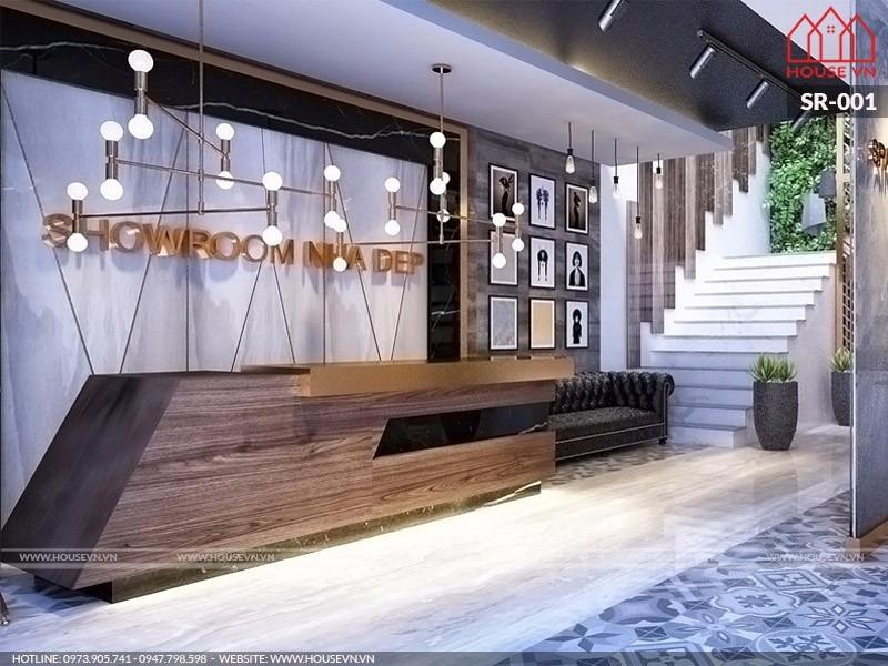 Thiết kế nội thất showroom trưng bày sản phẩm Nhà đẹp, SR-001