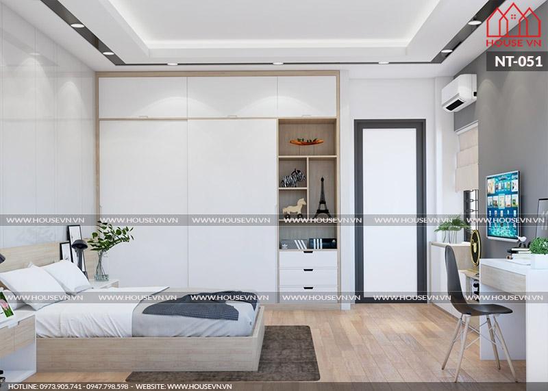 Bộ sưu tập thiết kế nội thất phòng ngủ hiện đại, trẻ trung cho nhà ống dân dụng