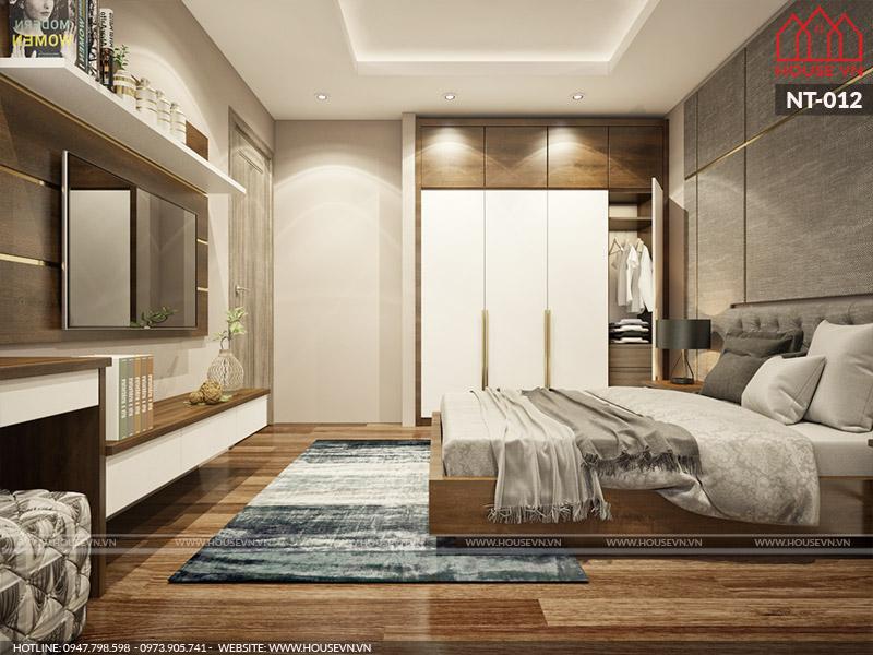 Mẫu thiết kế phòng ngủ có nhà vệ sinh tiện nghi hợp phong thủy