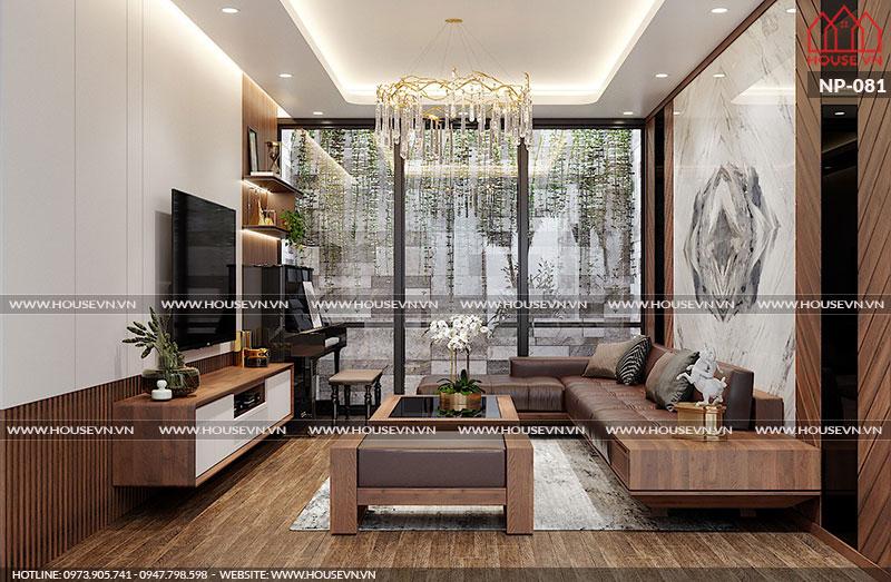 Gợi ý thiết kế nội thất phòng khách cho nhà ống hiện đại