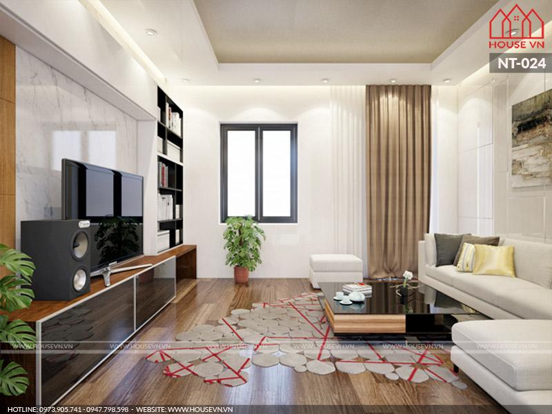 Thiết kế nội thất phòng khách hợp phong thủy, thông thoáng và siêu đẹp