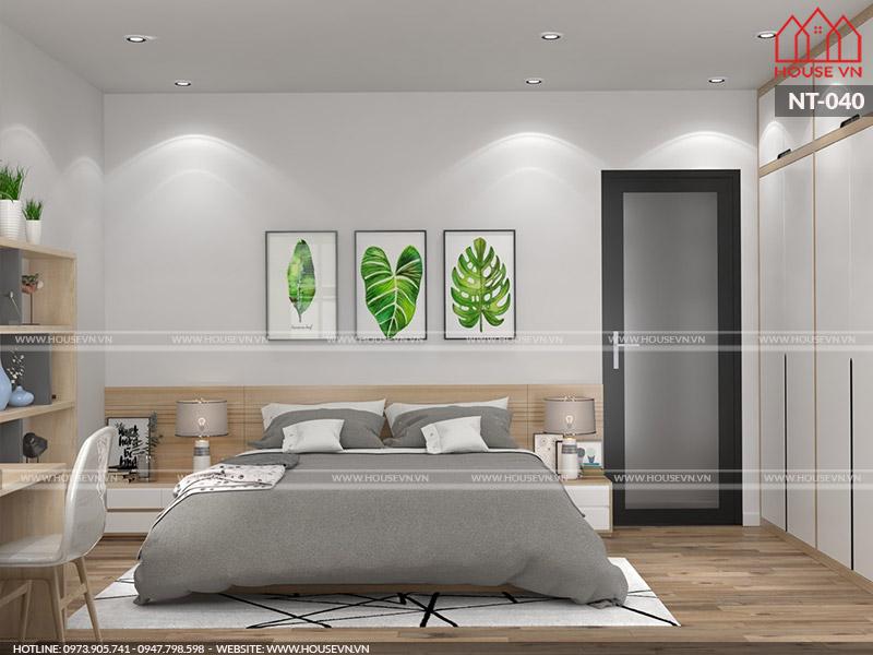 Mẫu thiết kế nội thất phòng ngủ ngăn nắp, gọn gàng