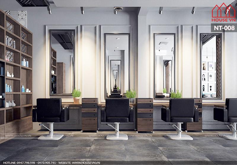 Thiết kế nội thất salon tóc đẹp