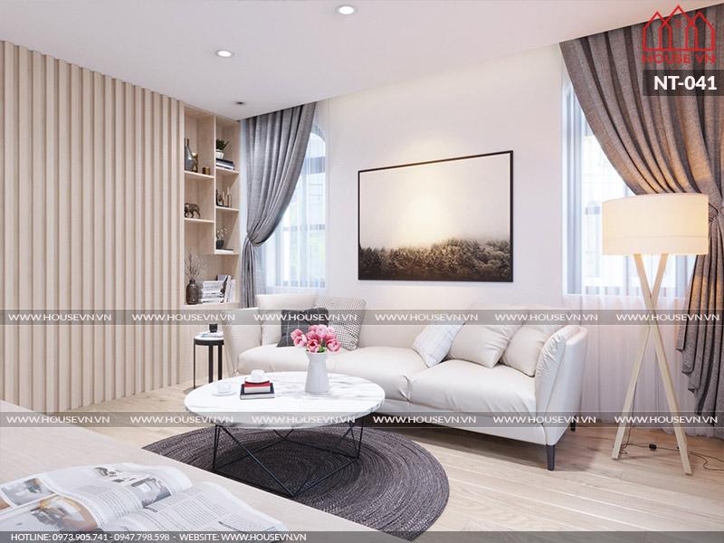 Phương án thiết kế nội thất phòng khách nhỏ gọn, phù hợp với kiểu nhà ống hiện nay