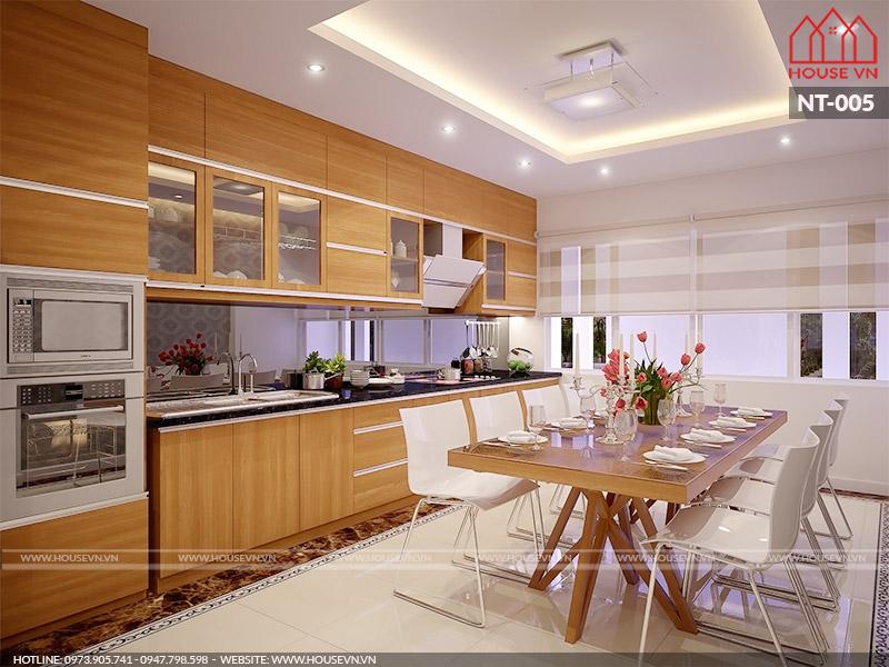 Ý tưởng thiết kế nội thất phòng bếp mọi chị em đều yêu thích