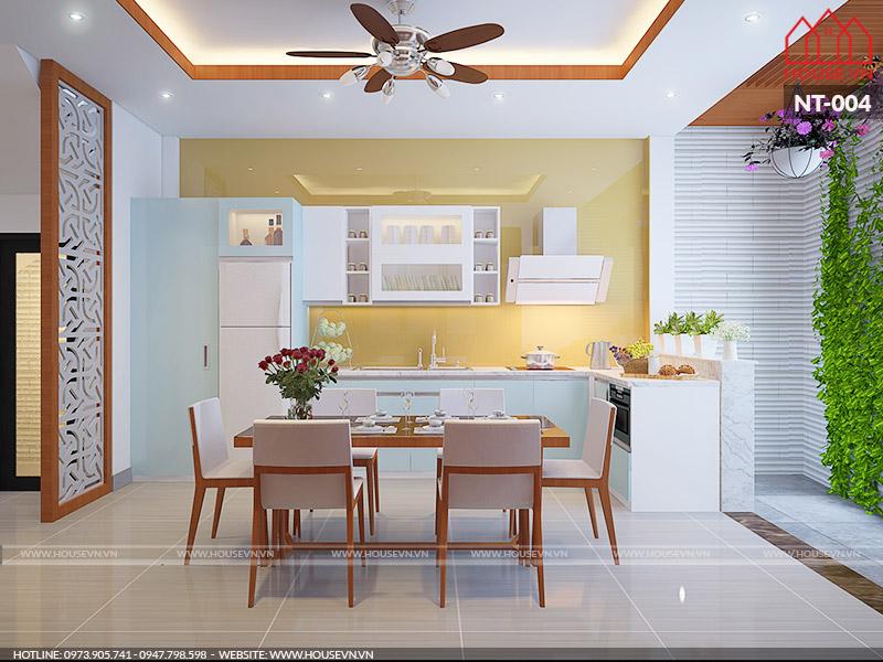 Thiết kế nội thất phòng ăn đẹp tiện nghi chi phí đầu tư tiết kiệm