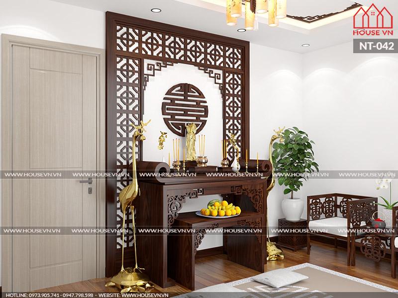 Tham khảo cách thiết kế và bày trí nội thất phòng thờ hợp phong thủy
