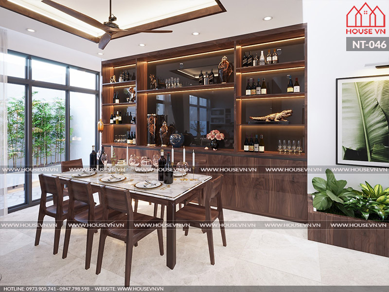 Mẫu thiết kế nội thất phòng bếp gọn gàng, hợp phong thủy