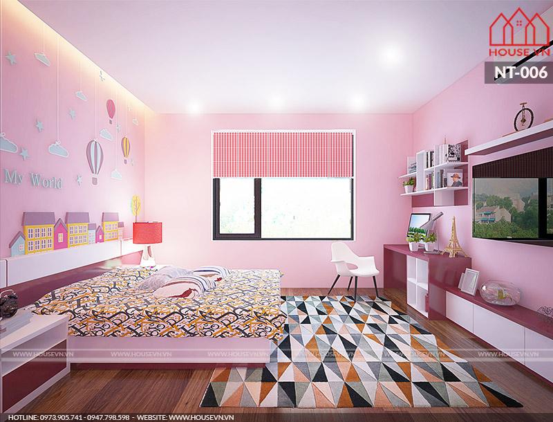 Gợi ý thiết kế nội thất phòng ngủ dành cho trẻ em