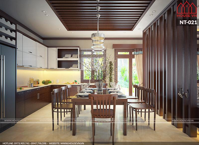 Tham khảo mẫu thiết kế nội thất phòng bếp đẹp sang trọng, ấn tượng