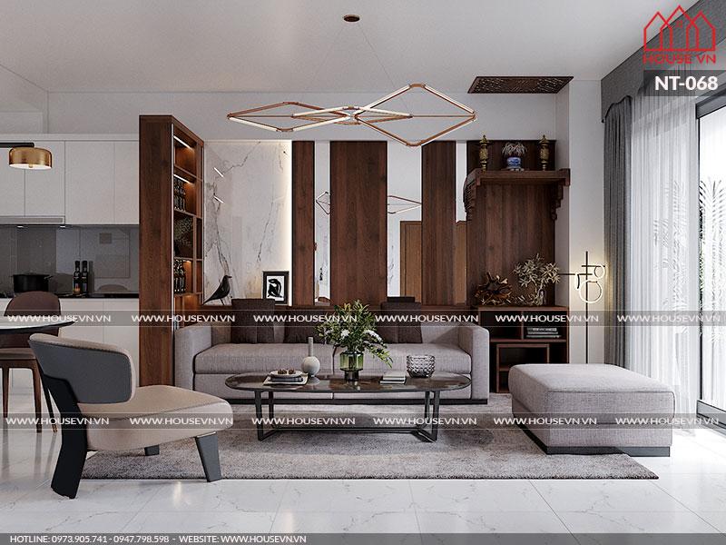 Mẫu thiết kế nội thất phong cách hiện đại chochung cư Hera Hải Phòng, NT-068