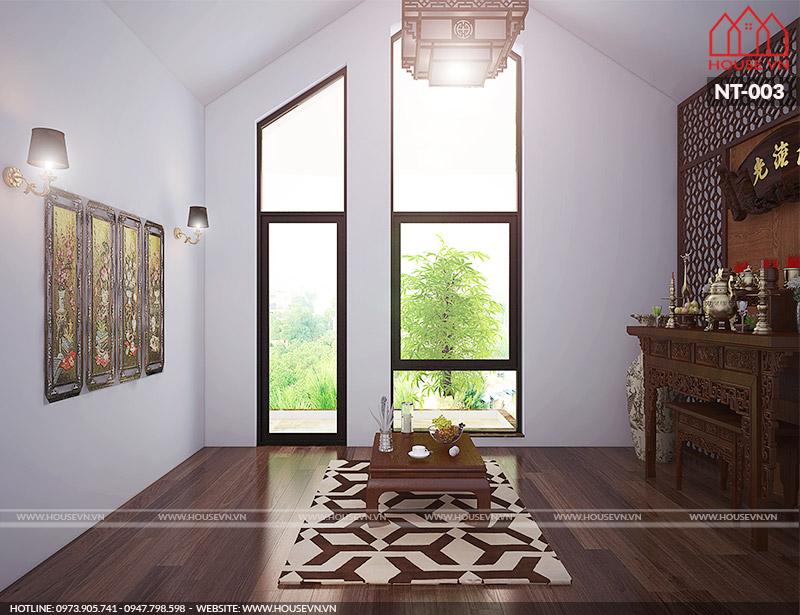 12 mẫu thiết kế nội thất phòng thờ trang trí đẹp cho mọi ngôi nhà