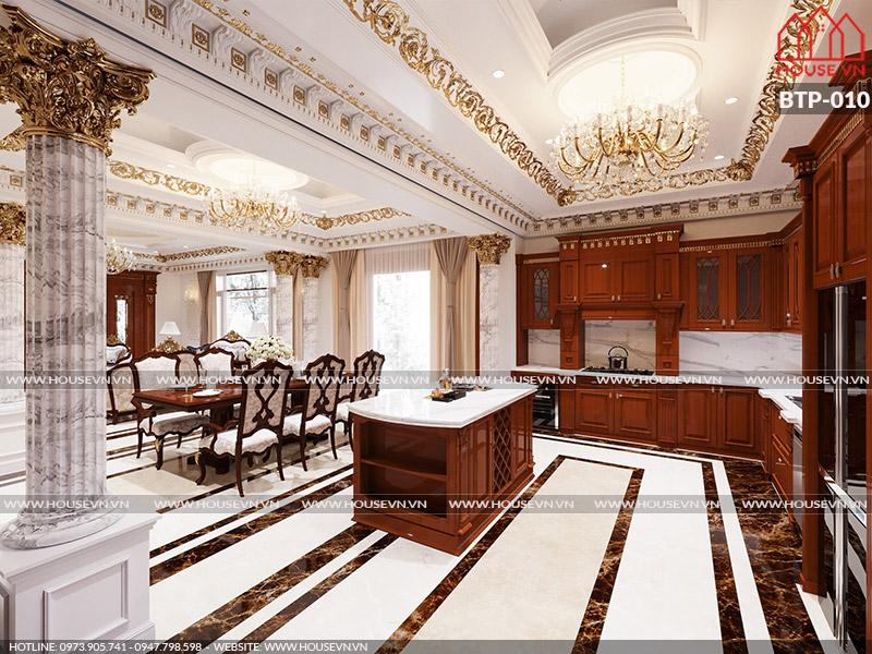 Gợi ý thiết kế nội thất phòng bếp dành cho biệt thự đẹp ấn tượng