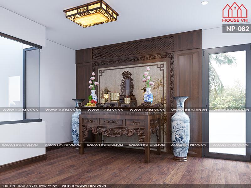 Tư vấn thiết kế nội thất phòng thờ đẹp kiểu truyền thống