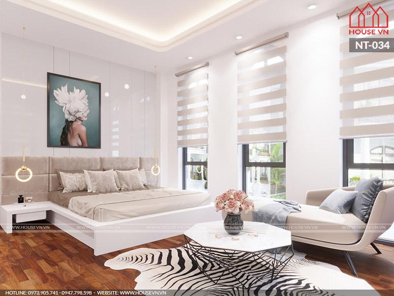 Gợi ý thiết kế nội thất phòng ngủ với gam màu sáng đẹp mắt